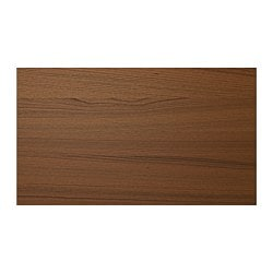 ILSENG 4 panels for sliding door frame, brown stained ash veneer