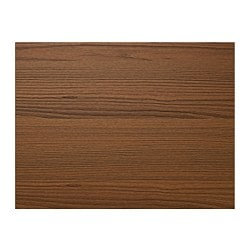 "ILSENG 4 panels for sliding door frame, brown stained ash veneer Width: 29 1/2 "" Height: 92 7/8 "" Thickness: 1/8 "" Width: 75 cm Height: 236 cm Thickness: 0.4 cm"