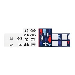 GLÖDANDE adhesive labels, set of 2, assorted patterns Width: 13 cm Height: 18 cm