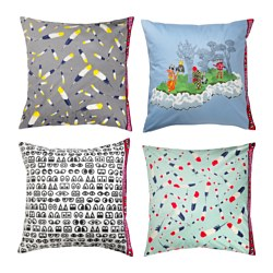 GLÖDANDE cushion cover, assorted patterns Length: 65 cm Width: 65 cm