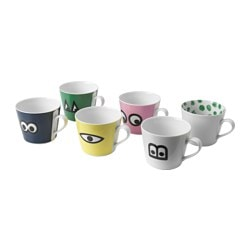 GLÖDANDE mug, assorted colours Height: 8 cm Volume: 40 cl