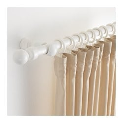 PORTION curtain rod set, white stained Length: 210 cm Max. length: 210 cm