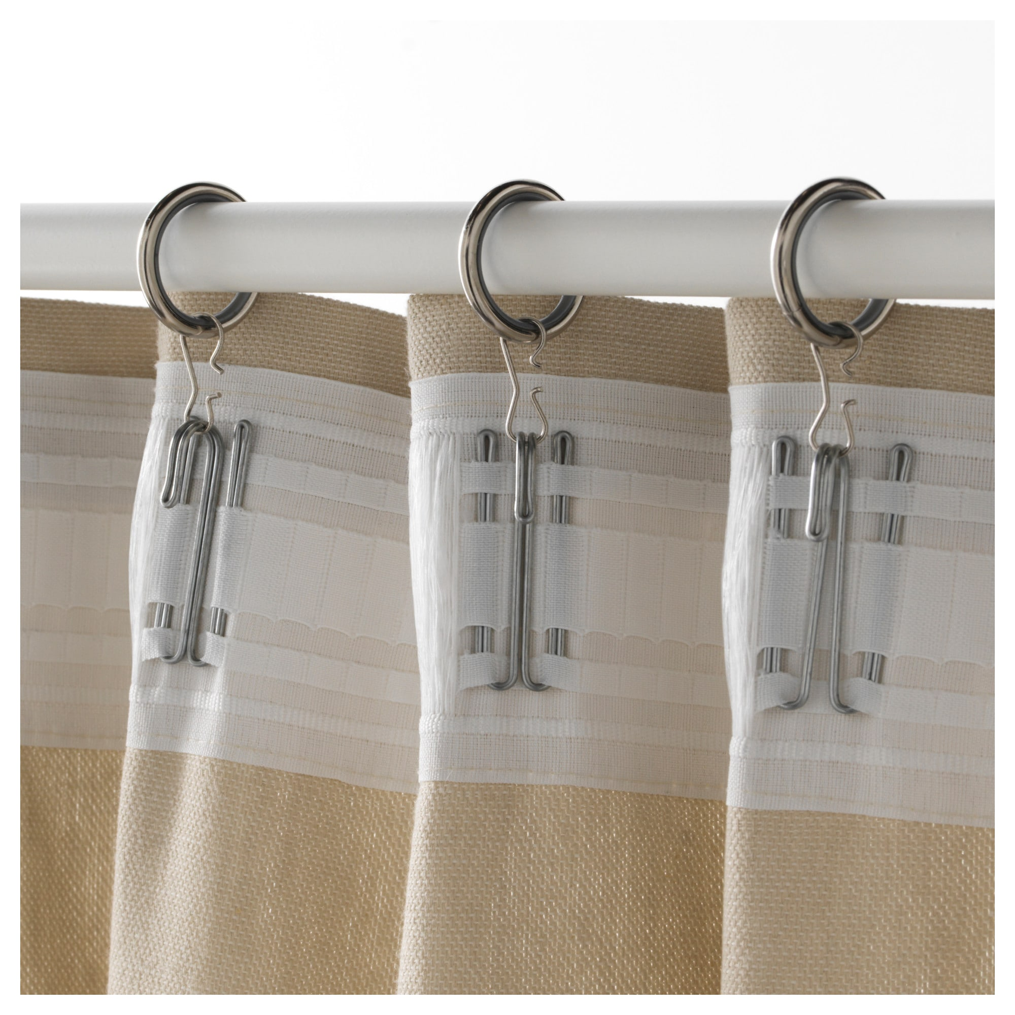 SYRLIG Curtain ring with clip and hook - IKEA