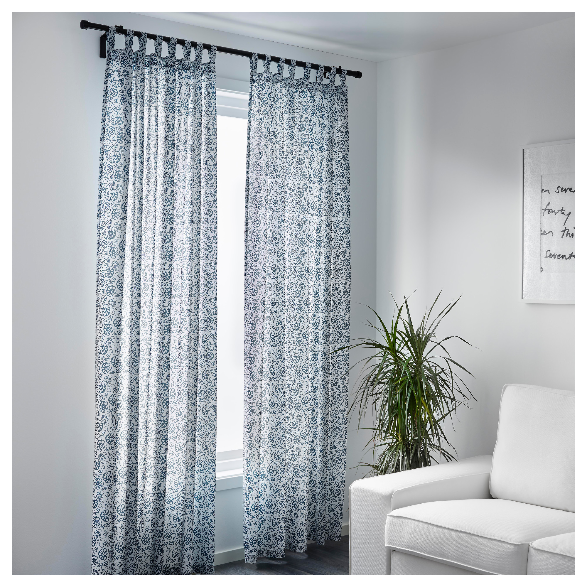 MJÖLKÖRT Curtains, 1 pair - IKEA