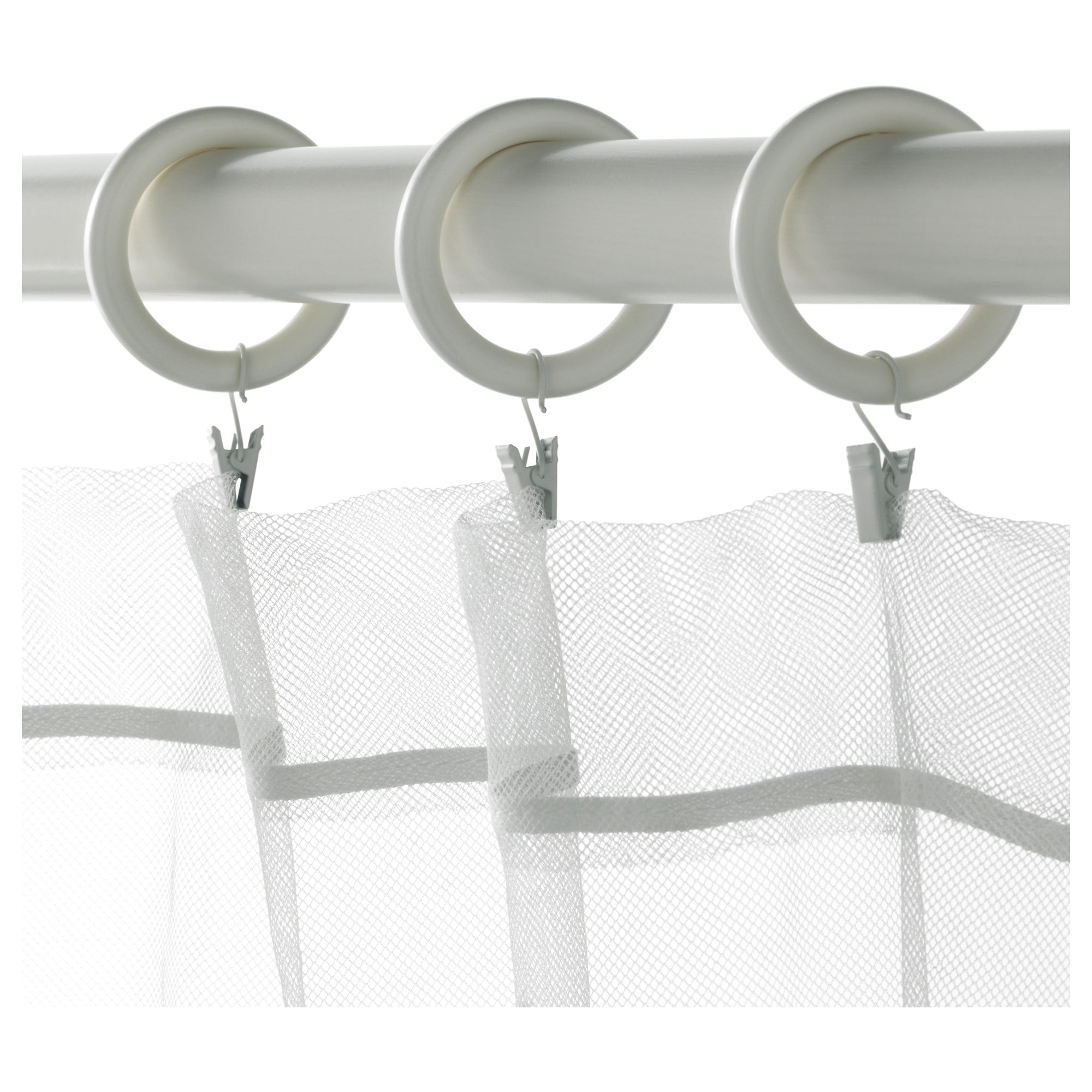 White curtain rings with clips - White Curtain Rings With Clips 3