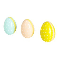 "KACKLING Easter egg, dotted assorted colors Length: 6 "" Diameter: 4 "" Length: 15 cm Diameter: 10 cm"