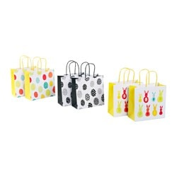 KACKLING gift bag, bunny, egg pattern Width: 15 cm Height: 15 cm Package quantity: 2 pack