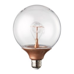 NITTIO LED bulb E27 20 lumen, globe copper-colour