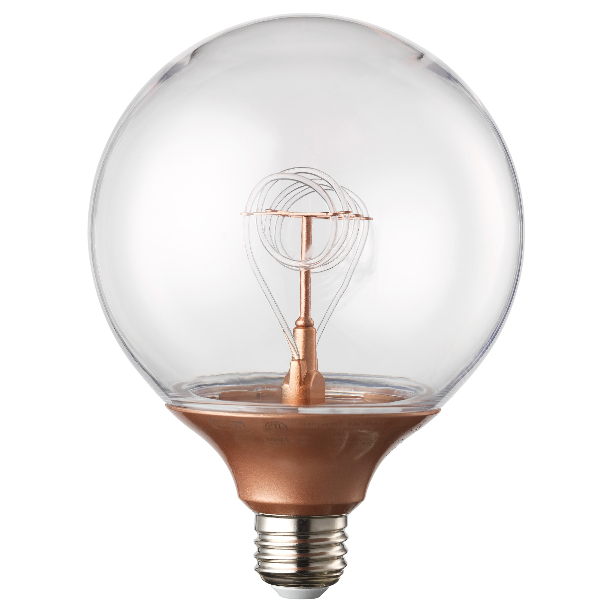 NITTIO LED bulb E26 20 lumen, globe copper color Luminous flux: 20 Lumen  Diameter