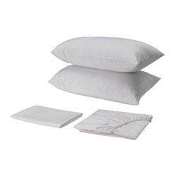 SKUGGLILJA sheet set, white Thread count: 295 /inch² Thread count: 295 /inch²