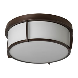 KATTARP ceiling lamp, glass bronze color