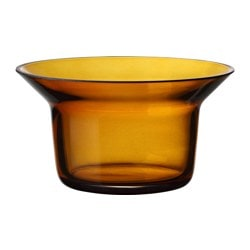 "BJÖRKSNÄS tealight holder, glass orange Height: 3 "" Diameter: 5 "" Height: 7 cm Diameter: 13 cm"