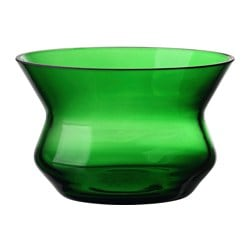 "BJÖRKSNÄS tealight holder, glass green Height: 2 "" Diameter: 3 "" Height: 5 cm Diameter: 8 cm"