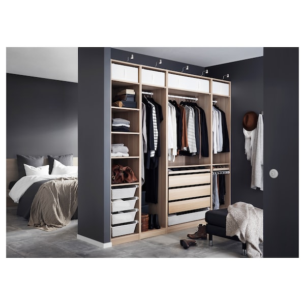 pax kleiderschrank eicheneff wlas ikea. Black Bedroom Furniture Sets. Home Design Ideas