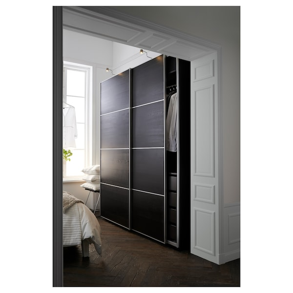 pax kleiderschrank schwarzbraun ilseng schwarzbraun ikea. Black Bedroom Furniture Sets. Home Design Ideas