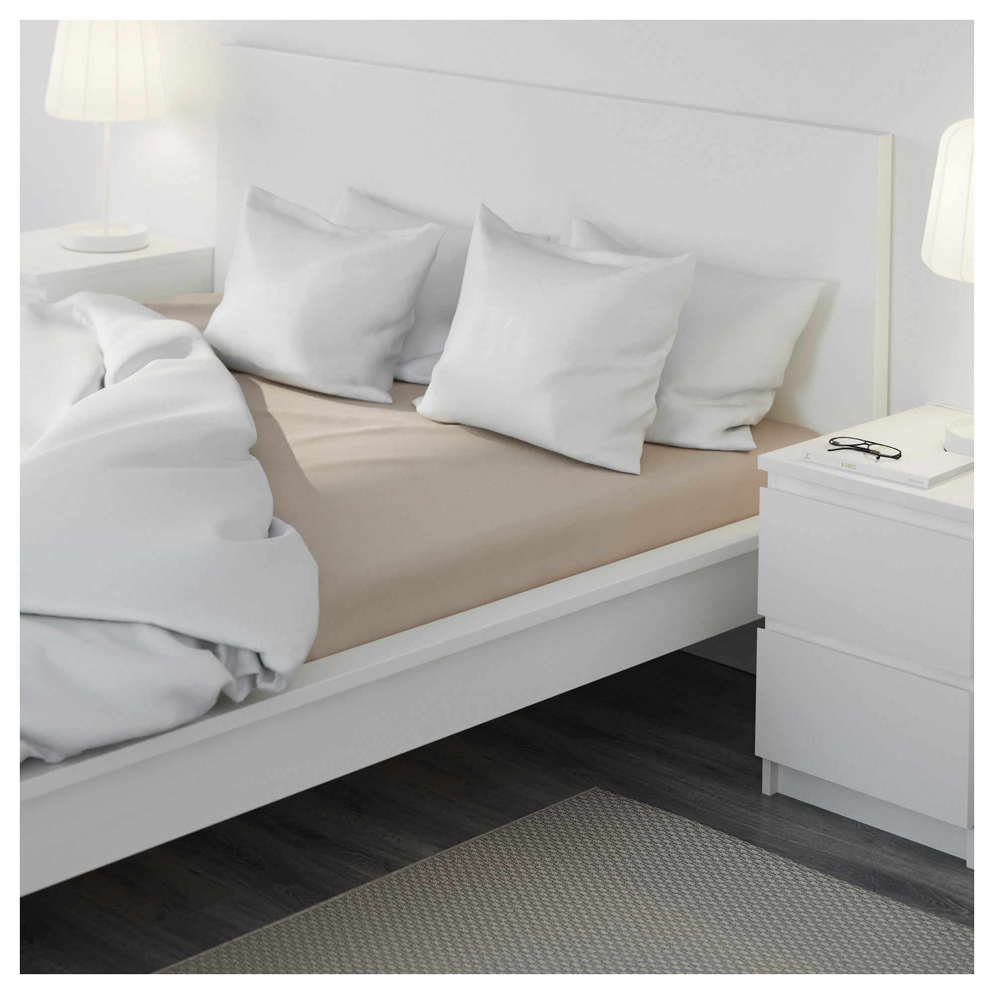 MALM Bed frame, high - Full, -, white - IKEA