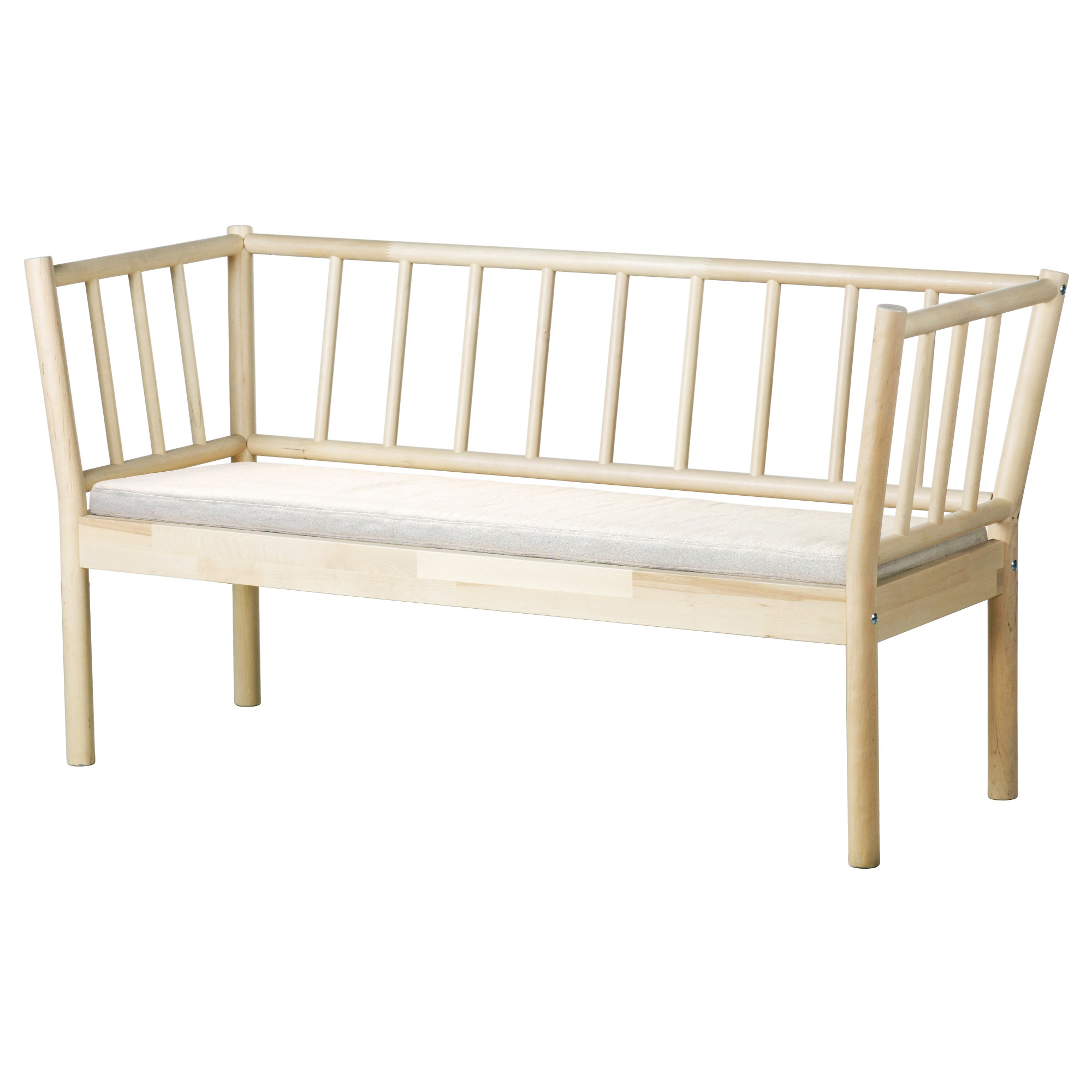 tufted dining bench with back bjarksnas high back bench with pad birch risane natural width