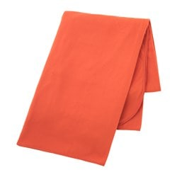 SKOGSKLOCKA throw, orange Length: 170 cm Width: 130 cm