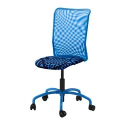 TORBJÖRN swivel chair, blue Kvarnatorp blue Tested for: 110 kg Depth: 60 cm Max. height: 96 cm