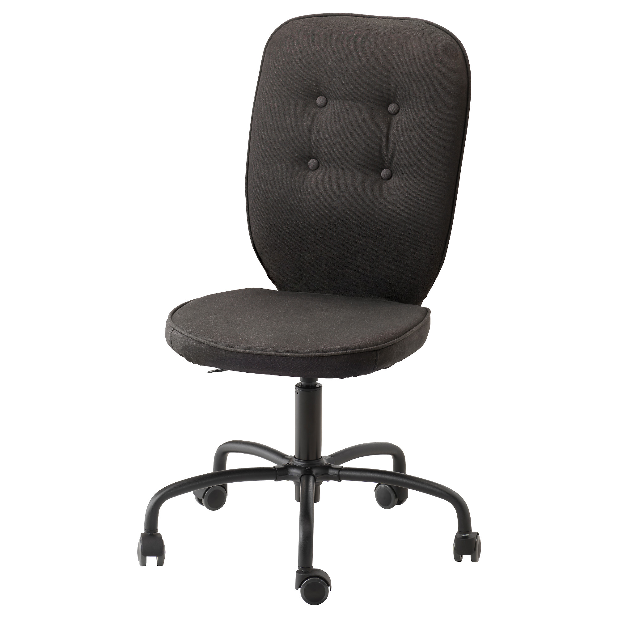 White Leather Office Chair Ikea LILLHJDEN Swivel Chair Black Idemo Tested For 242 Lb 8 Oz Width White Leather Office Ikea E