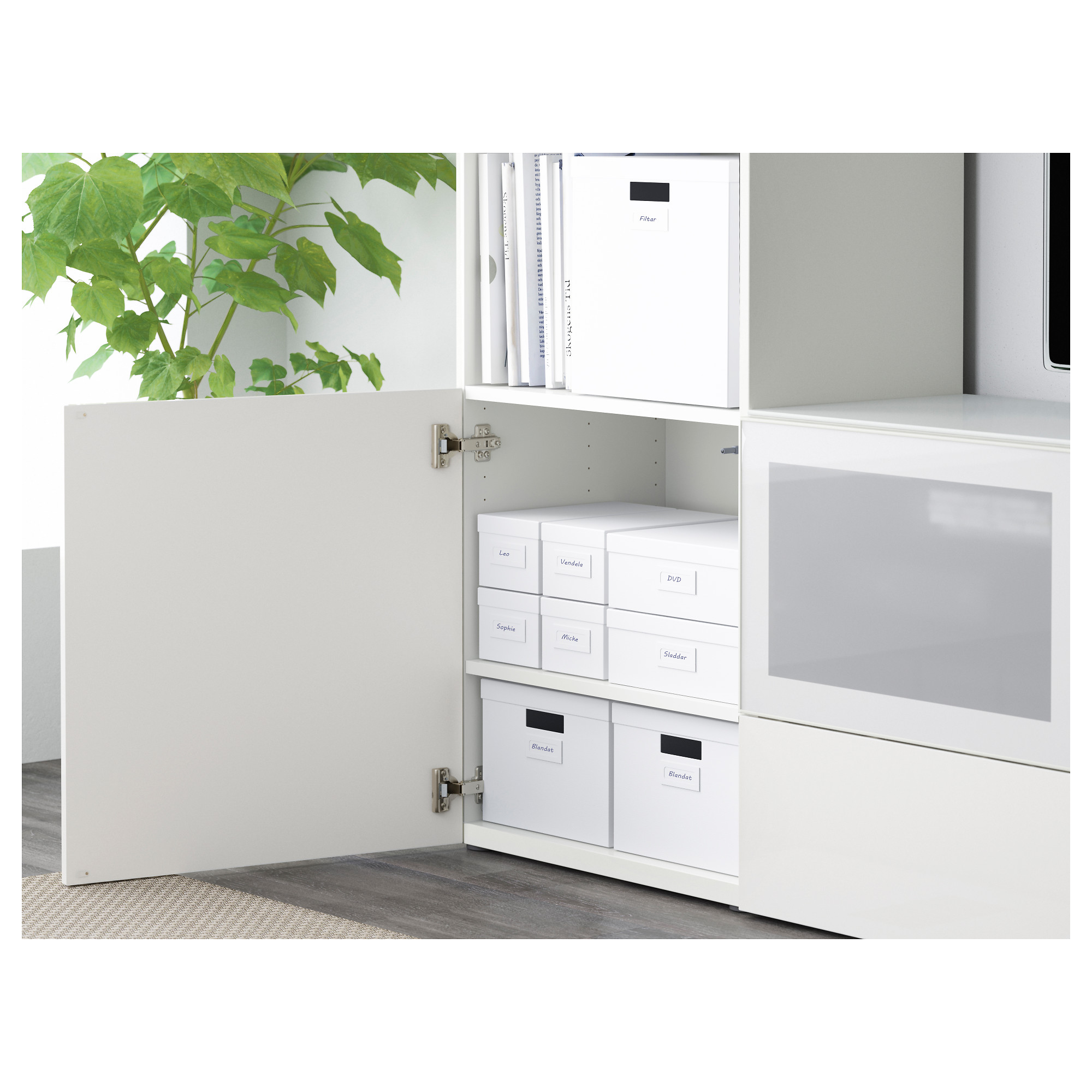 TJENA Box With Compartments   Black   IKEA