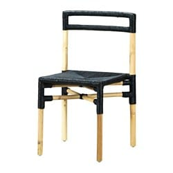 VIKTIGT chair, black, bamboo Tested for: 100 kg Width: 47 cm Depth: 48 cm