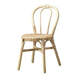VIKTIGT chair, rattan Tested for: 100 kg Width: 43 cm Depth: 51 cm