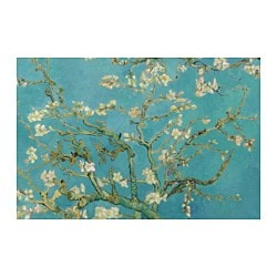 "BJÖRKSTA picture, almond blossom Width: 30 ¾ "" Height: 46 ½ "" Width: 78 cm Height: 118 cm"
