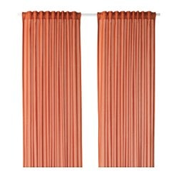 VIVAN curtains, 1 pair, orange Length: 300 cm Width: 145 cm Weight: 0.70 kg