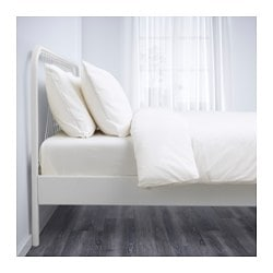 Nesttun Bed Frame White L 246 Nset Queen L 246 Nset Ikea