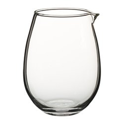 VIKTIGT jug, clear glass Height: 12 cm Volume: 0.5 l