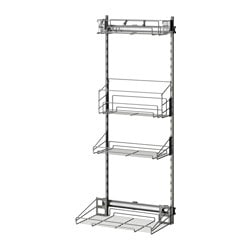 "UTRUSTA pull-out rack for cleaning supplies Width: 14 "" Depth: 22 3/8 "" Frame, height: 55 1/8 "" Width: 35.6 cm Depth: 56.9 cm Frame, height: 140.0 cm"