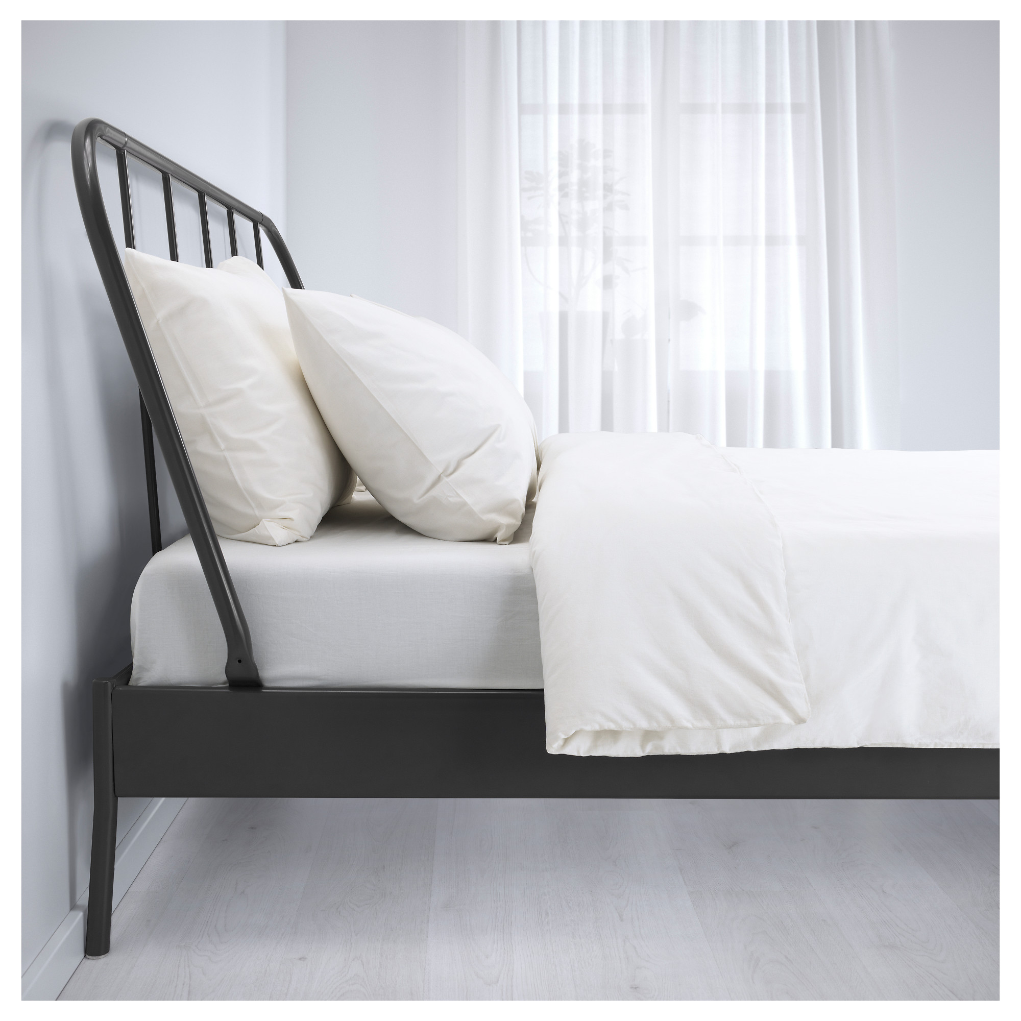 KOPARDAL Bed frame Queen Luröy slatted bed base IKEA