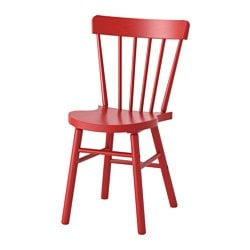 NORRARYD chair, red Tested for: 110 kg Width: 47 cm Depth: 51 cm