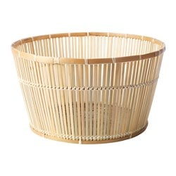 "VIKTIGT basket, bamboo Diameter: 23 ½ "" Height: 13 "" Diameter: 60 cm Height: 33 cm"