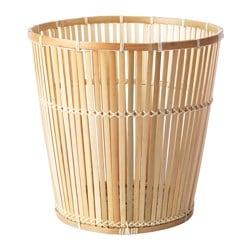 "VIKTIGT basket, bamboo Diameter: 15 ¼ "" Height: 15 ¼ "" Diameter: 39 cm Height: 39 cm"