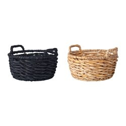 "VIKTIGT basket with handles, assorted colors Diameter: 20 ½ "" Height: 10 ¼ "" Diameter: 52 cm Height: 26 cm"