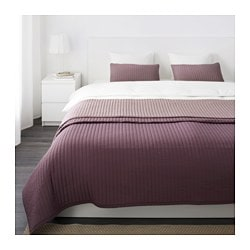 KARIT bedspread and 2 cushion covers, lilac