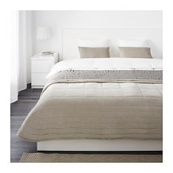 "PENNINGBLAD bedspread and 2 cushion covers, gray Bedspread length: 110 "" Bedspread width: 102 "" Cushion cover length: 16 "" Bedspread length: 280 cm Bedspread width: 260 cm Cushion cover length: 40 cm"
