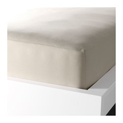 DVALA fitted sheet, beige Thread count: 144 /inch² Length: 200 cm Width: 150 cm