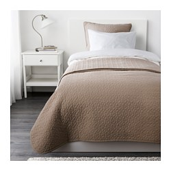 "ALINA bedspread and cushion cover, beige Bedspread length: 110 "" Bedspread width: 71 "" Cushion cover length: 26 "" Bedspread length: 280 cm Bedspread width: 180 cm Cushion cover length: 65 cm"
