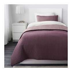 "KARIT bedspread and cushion cover, lilac Bedspread length: 110 "" Bedspread width: 71 "" Cushion cover length: 16 "" Bedspread length: 280 cm Bedspread width: 180 cm Cushion cover length: 40 cm"