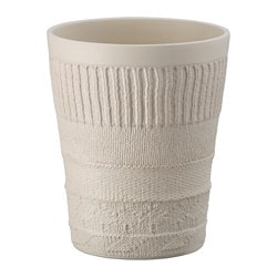 CITRONGRÄS plant pot, light beige Outside diameter: 13 cm Max. diameter flowerpot: 12 cm Height: 16 cm