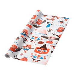 MYTISK rollo de papel de regalo, blanco longitud: 5 m Ancho: 0.7 m superficie: 3.50 m²