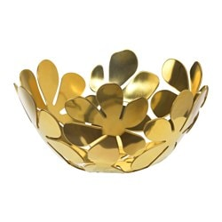 STOCKHOLM, Bowl, gold brass color