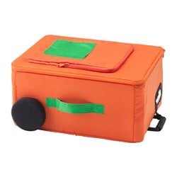 FLYTTBAR, Storage box, orange