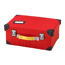 FLYTTBAR, Toy trunk, red