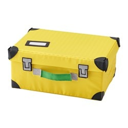 FLYTTBAR, Toy trunk, yellow