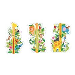 KLÄTTA decoration stickers, jungle height chart Length: 135 cm Width: 31 cm