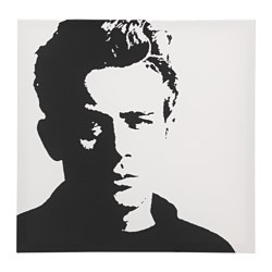 PJÄTTERYD reproduction, James Dean Largeur: 90 cm Hauteur: 90 cm